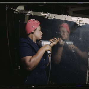 woman working on a B-52