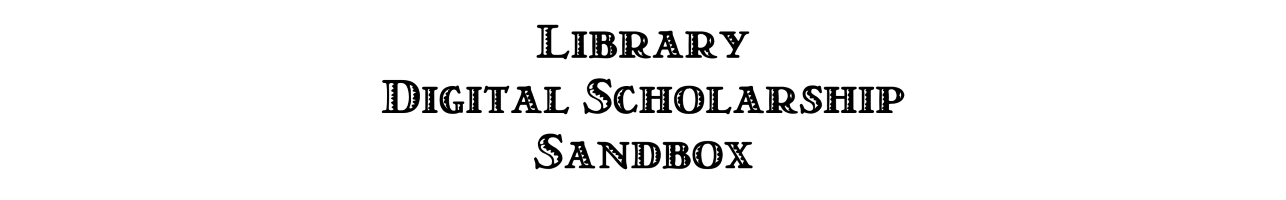 Library DH Sandbox